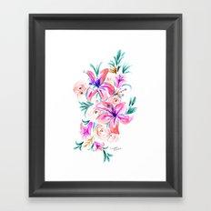 Summer Lily Floral Framed Art Print