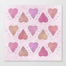 Hearts, love Canvas Print