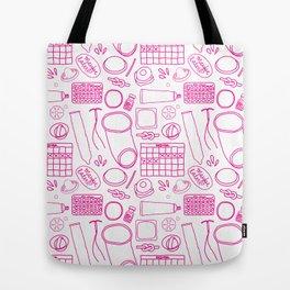 Birth Control Pattern Tote Bag