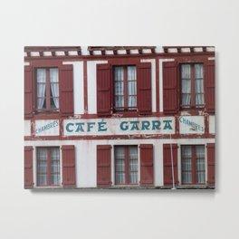 Basque Café Metal Print