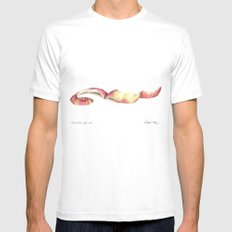 Gravenstein apple peel MEDIUM Mens Fitted Tee White