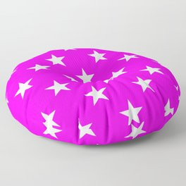 Stars (White/Fuchsia) Floor Pillow