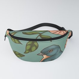 Coral Wild Rose Fanny Pack