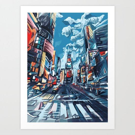 new york city-times square urban art Art Print