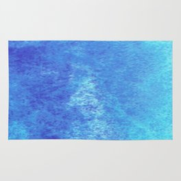 Turquoise Seas Abstract Watercolor Rug