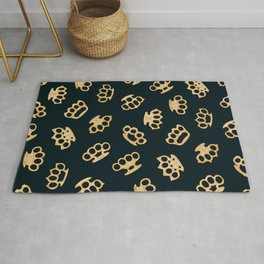 Brass Knuckles With Good Thoughts Rug
