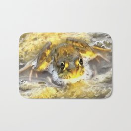 Frog In Deep Water Bath Mat