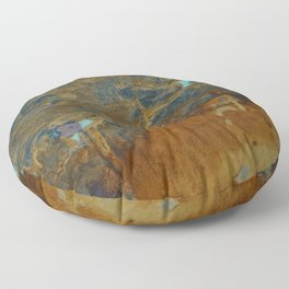 Blue Lagoons in Rusty World Floor Pillow