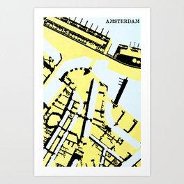 AMSTERDAM (MAPSTAT SERIES) Art Print