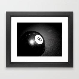 Eight Ball-Black Framed Art Print