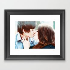 True Love's Kiss Framed Art Print