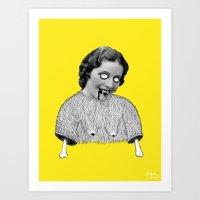 carmilla Art Prints featuring Carmilla by Mathilde Clement