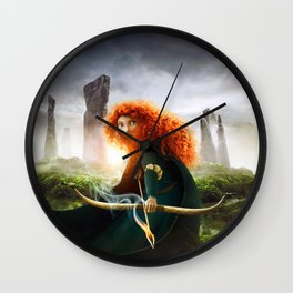MERIDA THE BRAVE - PORTRAIT MERIDA WITH ARROW Wall Clock