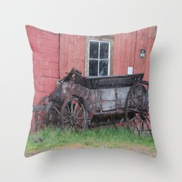 Remnants of a Dead Town Throw Pillow