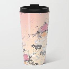 ombre floral - all Metal Travel Mug
