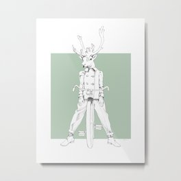 Weird & Wonderful: Racing Reindeer Metal Print