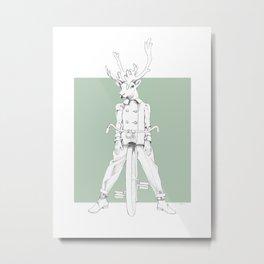 Weird & Wonderful: Racing Reindeer Metal Print