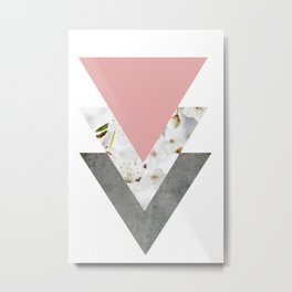 Blossoms Arrows Collage Metal Print