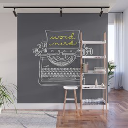 Word Nerd Wall Mural
