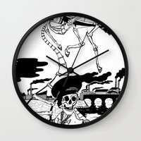 led zeppelin Wall Clocks featuring Zeppelin by Saskia Juliette