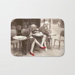New Red Shoes Vintage Paris Photo Bath Mat