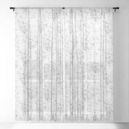 Wite Roses Sheer Curtain