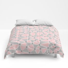 Seg African Grey and Pink Comforters