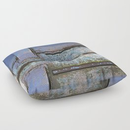 blue boat Floor Pillow