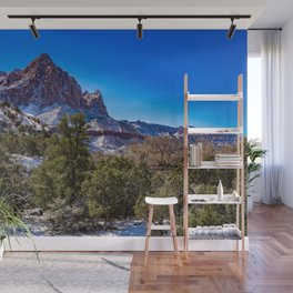 The_Watchman - Winter in Zion_National_Park, UT Wall Mural