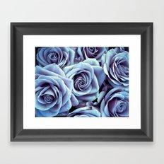Periwinkle Roses / Flowers Framed Art Print