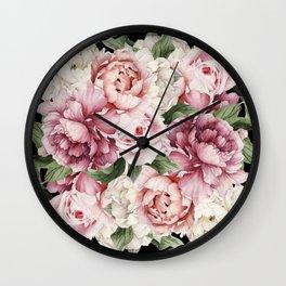 Peony Power Wall Clock