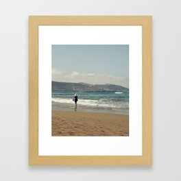 Me & Beach Framed Art Print