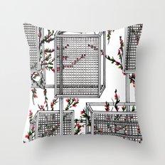 geo spring Throw Pillow