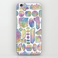 minerals iPhone & iPod Skins featuring Rainbow Minerals by Ouvra