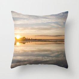 Baltic sea and sunset Throw Pillow