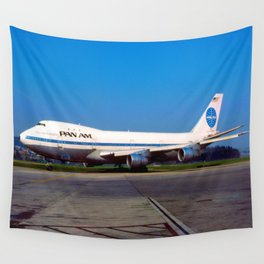 PanAm 747 Clipper Wall Tapestry
