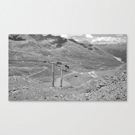 chairlift repair kaunertal alps tyrol austria europe black white Canvas Print