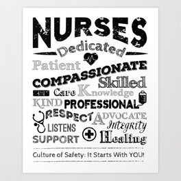 Nurses Rock Art Print