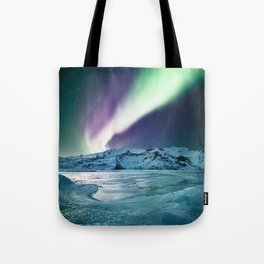 aurora in iceland Tote Bag