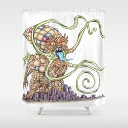 Cornthulhu Shower Curtain