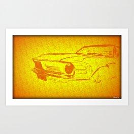 Boss Mustang 302 Art Print