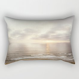 Neutral Sunset Pacific Ocean Photography, Brown Grey Seascape, California Coast Sea Landscape Rectangular Pillow