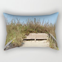 Beach Bench Rectangular Pillow