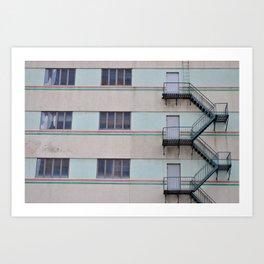 Raymond Boulevard Fire Escape - Newark, New Jersey Art Print