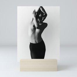 Nude dancer black and white nude photography 2010 Mini Art Print