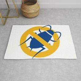 Stop Cockroach Icon Rug