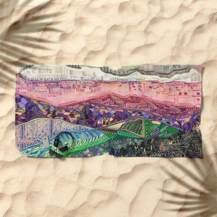 Big Mountians Beach Towel