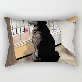 Ajax watches the worl Rectangular Pillow