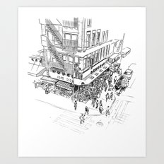 Morning hours of Chinatown - Manhattan, New York Art Print