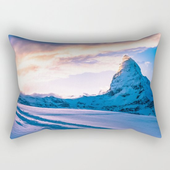Mountain Peak (Morning Light) Rectangular Pillow
